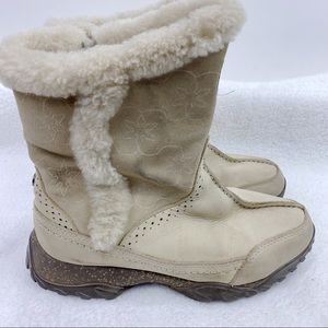 The North Face Primaloft suede winter boots